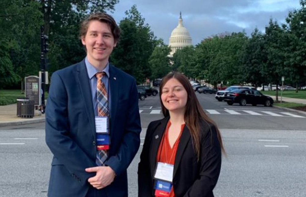 WVMEA sponsors two collegiate members, Tanner Petri  and Genesis Mihalko, to attend the Collegiate Advocacy Summit in Washignton D.C.